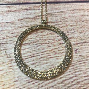 LOFT circle pendant necklace